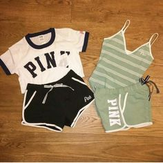 pink by victoria secret. Cute Lazy Outfits, Cute Swag Outfits, Teenage Outfits, Teen Fashion Outfits, Pink Outfits, Girl Fashion, Summer Outfits, Vs Pink Outfit, Fashion Tips