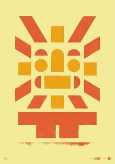 BD Tribler Sun silkprint poster (70x100cm)