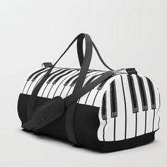 Ebony & Ivory Duffle Bag