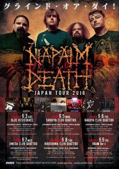 Napalm Death - Japan Tour 2016