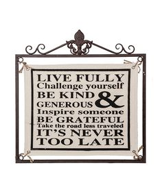 'Live Fully' Canvas Wall Art | Daily deals for moms, babies and kids