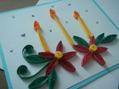 holiday quilling | Christmas quilling cards.