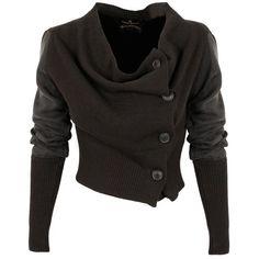 Vivienne Westwood Anglomania Drape Cardigan | GarmentQuarter ($430) ❤ liked on Polyvore