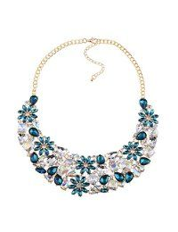 collar,blue crystal necklace,resin,chic jewelry #women #fashion #necklace #choker