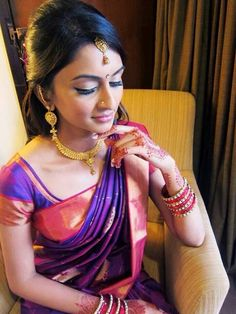 Love her traditional gold jewellery