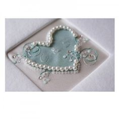 Duck egg blue personalised guestbook