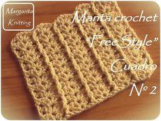 Manta a crochet FreeStyle cuadro 24: punto C2C (diestro) - YouTube