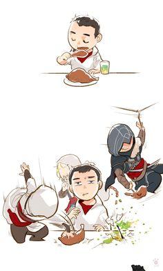Assassins at dinner