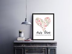 Our #love | Love quote | #Wedding #Anniversary gift | #Valentine gift  | #HomeDecor Print | #Printable Quote | Typography | by InspirationWallDecor on Etsy. Check more #digitalprint #walldecor #artprint themed at my #etsy store www.etsy.com/shop/InspirationWallDecor