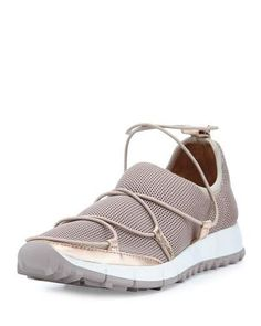 S0H72 Jimmy Choo Andrea Strappy Mesh Sneaker, Tea Rose