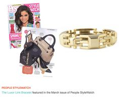 The lovely gold Luxor Link Bracelet from Stella & Dot was featured in People StyleWatch magazine! www.stelladot.com/kikicollection