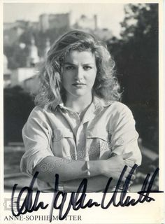 Mutter, Anne-Sophie - Signed promo photo