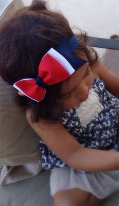 Red, White and Blue Memorial Day / 4th of July Hair Bow Great for All