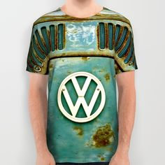 VW Retro All Over Print Shirts #VW #Retro #Vintage #Rusty #Volkswagen #Camper #Bus #CamperVan #tees #shirt #clothing #unisex #fashion