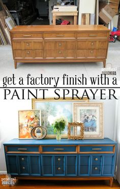 How to Achieve a Factory Finish with a Paint Sprayer by Prodigal Pieces   www.prodigalpieces.com