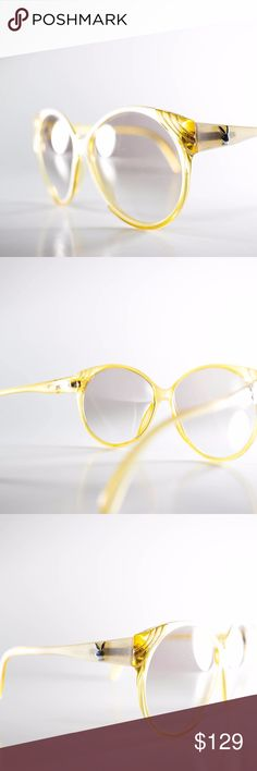 Playboy Optyl Yellow 4572 70 Made in Austria Playboy Optyl Yellow 4572 70 Made in Austria 64-16-135 Unisex Vintage Sunglasses NOS Deadstock- Free Shipping  Vintage Sunglasses:  - Made in Austria - Frame Color: Yellow - Lens Color: Gray - Frame Size: 64-16-135 - Full Frame Width: 152 - Material Used: Plastic - Great Vintage Condition - New Old Stock (NOS) - Lens? Excellent! No scratches - Frames? Great! Very minor flaws - Very small area of bubbling on the temple, hard to see. Only you will…