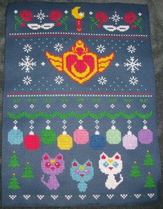 Sailor Moon Ugly Christmas Sweater Cross Stitch - NEEDLEWORK