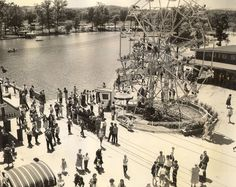 Right outside of Chattanooga, Tennessee. Lake Winnie's Ferris Wheel circa 1960.