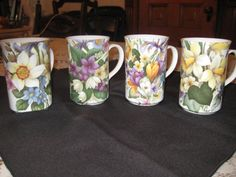 Set of 4 Vintage St.George English by VaccarosVintageFinds on Etsy