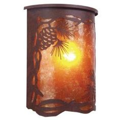 Steel Partners Pinecone 1 Light Outdoor Flush Mount Finish: Architectural Bronze, Shade Type: Amber Mica