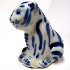 Tiger Gzhel porcelain