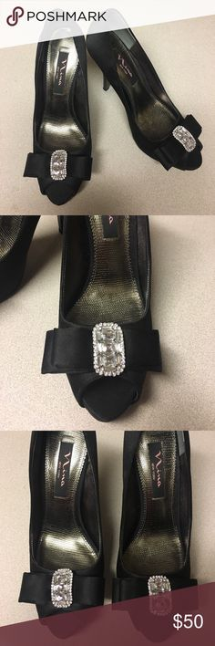"""Nina Satin Pumps Never worn. New without tags. Tried them on, bought them and then never wore them. Heel is 3.5"""". Nina Shoes Heels"""