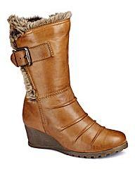 Lotus Wedge Mid Boots EEE Fit