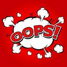 Oops  - Commic Speech Bubbel, Cartoon Illustration