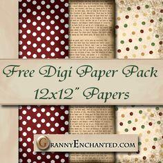 GRANNY ENCHANTED'S BLOG: Free Newsprint Digi Scrapbook Paper Pack