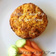 Buffalo Chicken Dip Pull Apart Bread  | #recipe | In The Kitchen With KP
