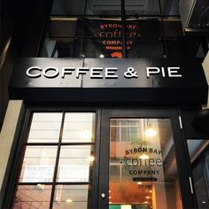 「COFFEE & PIE」sigh designed & installed.
