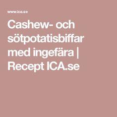Cashew- och sötpotatisbiffar med ingefära | Recept ICA.se