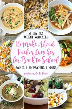 This list of 21 Day Fix Make Ahead Lunches for Teachers is great for ANYONE who wants to plan and prepare a quick lunch for those hectic midday meals! Confessions of a Fit Foodie Lunch Meal Prep, Easy Meal Prep, Healthy Meal Prep, Healthy Eats, Make Ahead Lunches, Prepped Lunches, Healthy Crockpot Recipes, Lunch Recipes, Fixate Recipes
