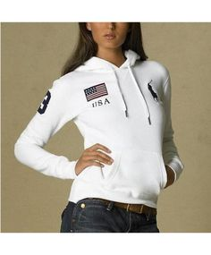 Polo Ralph Lauren Womens Big Pony Pullover Hoodie Newport Navy ...