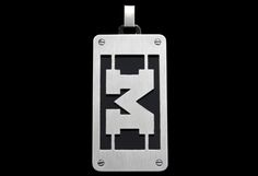 P51Z1580 - Stainless Steel Dog Tag with Cut-Out Block 'M' and Black IP Layer  https://www.facebook.com/CNoteUniversityofMichigan