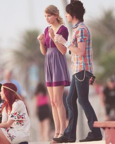 Taylor Swift and Grant Mickelson