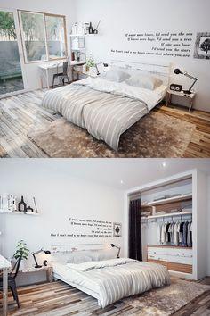 Camera da letto in stile scandinavo 02