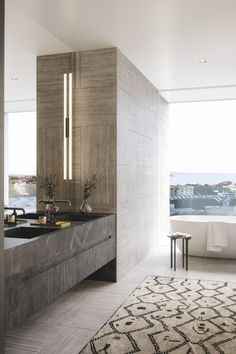 Edition is home to contemporary, thoughtful spaces created with flexibility in mind. Contemporary Bathroom Designs, Bathroom Design Luxury, Modern Bathroom, Contemporary Building, Bathroom Design Inspiration, Tadelakt, Apartment Interior, Cheap Home Decor, Luxury Homes