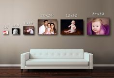 Picture Size Comparison Misc Pinterest Wall Photo Displays
