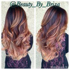 brunette auburn caramel ombre - Google Search
