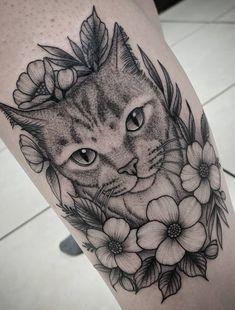, Tattoo, Female Tattoos of Cats. Animal Lover Tattoo, Tattoos For Dog Lovers, Animal Tattoos, Sweet Tattoos, Small Tattoos, Cool Tattoos, Black Cat Tattoos, Cat Tattoo Designs, Tattoo Project