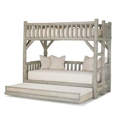Rustic Bunk Bed with Trundle #4259 by La Lune Collection