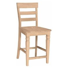 International Concepts 24 in. Unfinished Java Ladder Back Counter Height Stool