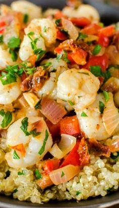 Shrimp Over Lemon Quinoa