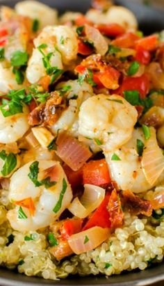 Shrimp Over Lemon Quinoa