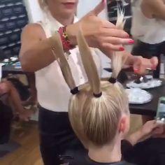 Maquillaje, Belleza y Peinados Gorgeous! Hair Cutting Videos, Hair Cutting Techniques, Hair Color Techniques, Hair Videos, Makeup Videos, Cut Own Hair, How To Cut Your Own Hair, Medium Hair Styles, Curly Hair Styles