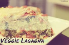 crockpot/slow cooker veggie lasagna - YUM! prep time: about 15 minutes cooking time: 4 hours