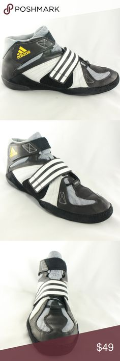 ADIDAS Extero II Wrestling Shoes G02590 Mixed material lightweight wrestling shoes with laces and velcro cross strap. No issues on the suede or finished leathers, and rubber sole still has plenty of life.  Size 12 adidas Shoes Athletic Shoes