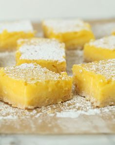 These creamy, tangy lemon bars are perfectly complemented by a sweet, crisp crust made with the all-purpose pantry staple, Bisquick. Recipe: Lemon Bars with Bisquick Crust Related:Sweet-Tart Lemon Bar Recipes Lemon Pie Bars, Lemon Cheesecake Bars, Vegan Lemon Bars, Easy Lemon Bars, Lemon Tarts, Lemon Slice, Lemon Desserts, Lemon Recipes, Delicious Desserts