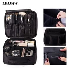 ROWNYEON Portable Travel makeup bag / Makeup Case / Mini Makeup Train Make-up bag / mini make-up & # 39 ; Product and price information can be found at: beautyworld. Makeup Travel Case, Travel Cosmetic Bags, Makeup Case, Cosmetic Case, Cosmetic Items, Travel Toiletries, Travel Bags, Large Makeup Bag, Mini Makeup